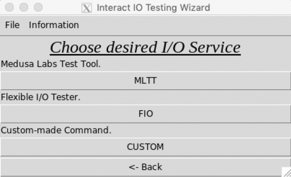 choose desired I/O service