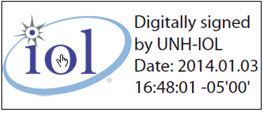 UNH-IOL signature badge