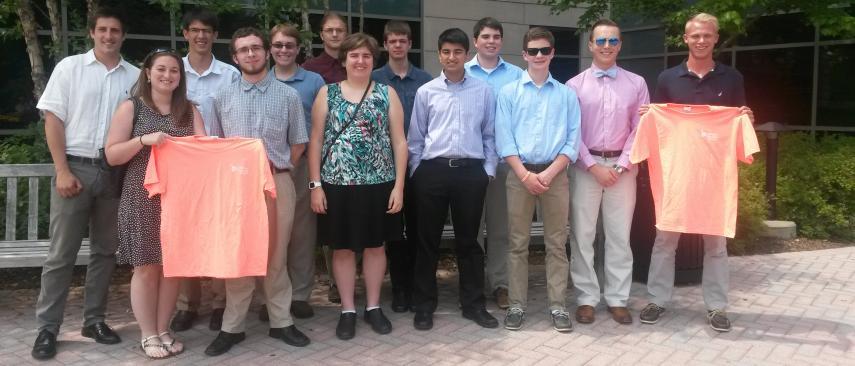 Group photo of last year's summer interns