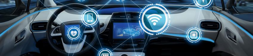 intelligent vehicle cockpit and wireless communication network concept