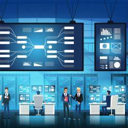 IT engineers in big data center