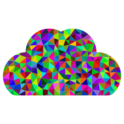 Cloud image styled like a stained-glass window