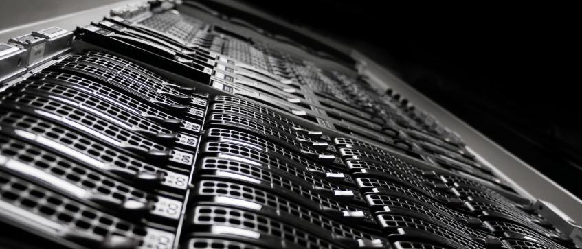 Servers in racks