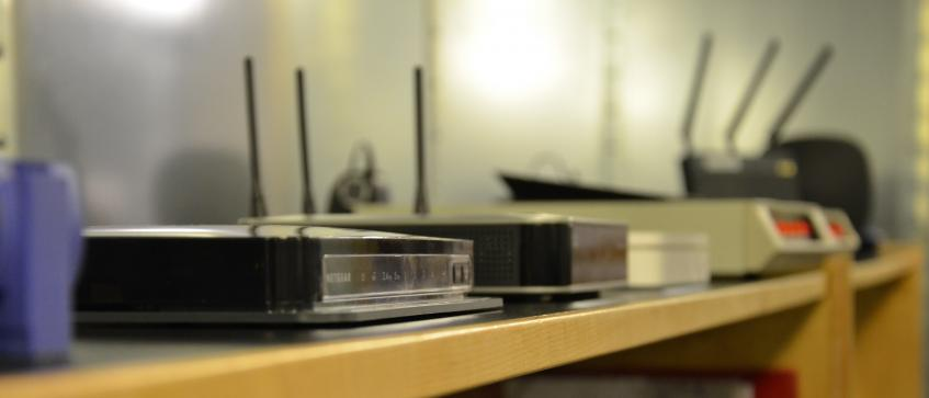 Wireless devices on a shelf